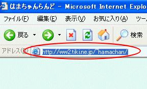 Internet Explorerのアドレスバー