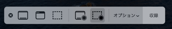 Catalinaのスクリーンショット用のコントロール