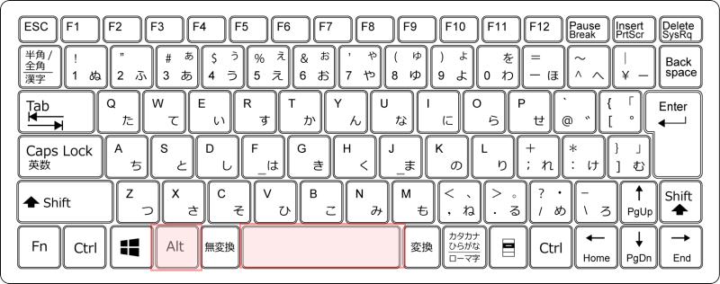 キーボード[Alt]+[Space]