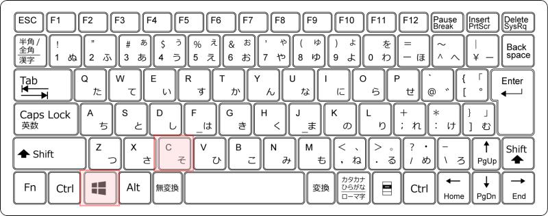 キーボード[Windows]+[C]