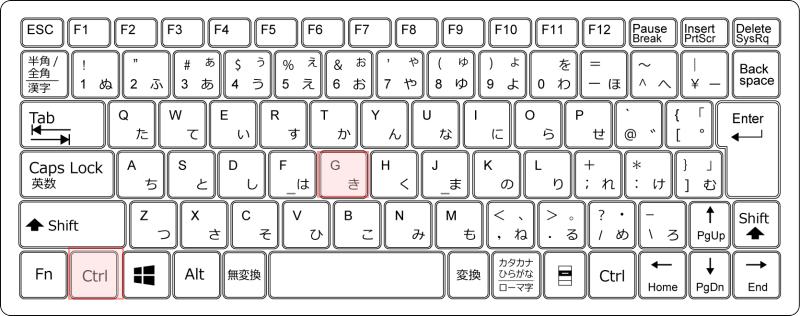 キーボード[Ctrl]+[G]