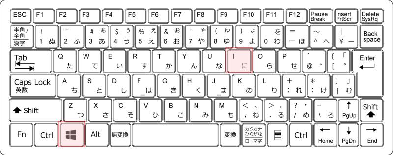 キーボード[Windows]+[i]