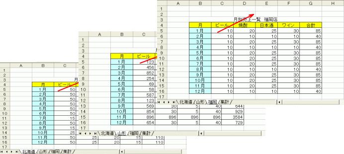 Excelの串刺し計算