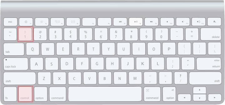 macキーボード[control]+[1]