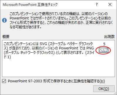 PowerPoint2019の互換性チェック