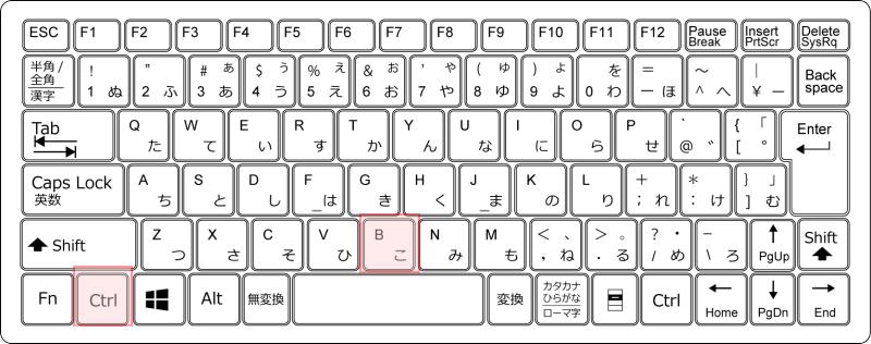 キーボード[Ctrl]+[B]