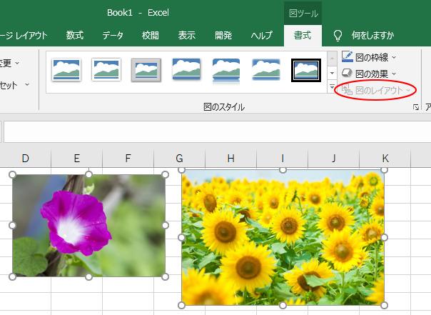 Excelの[図のレイアウト]