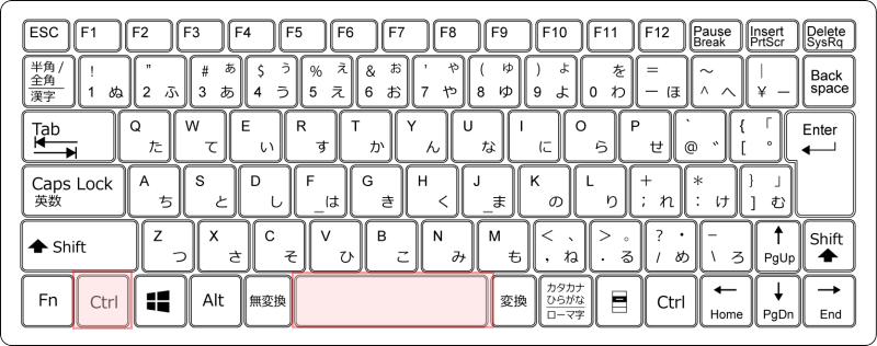 キーボードCtrl+スペース