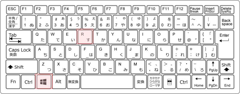 キーボード[Windows]+[R]
