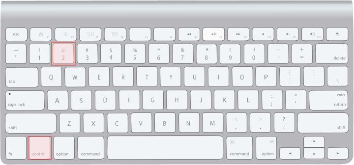 Macキーボード[control]+[2]