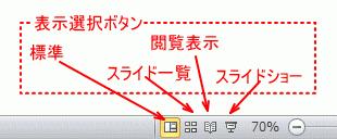 ステータスバーの表示モード
